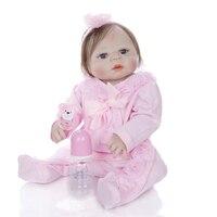 Bebes reborn real girl NPK full body silicone reborn baby doll toys for kids gift bathe doll boneca reborn silicone completa