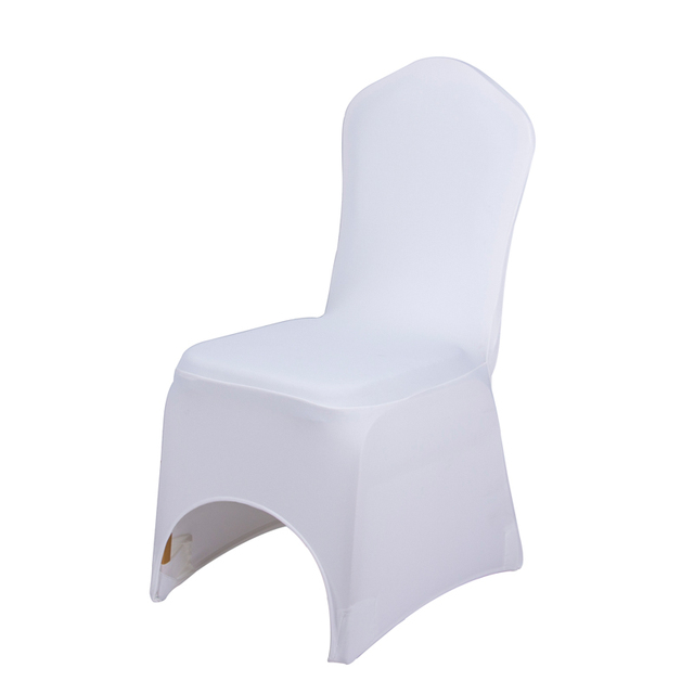 Universal Banquet Chair Covers Steel Tan 50pcs Lot Wedding White Stretch Polyester Spandex Cover Weddings Dining Restaurant Seat