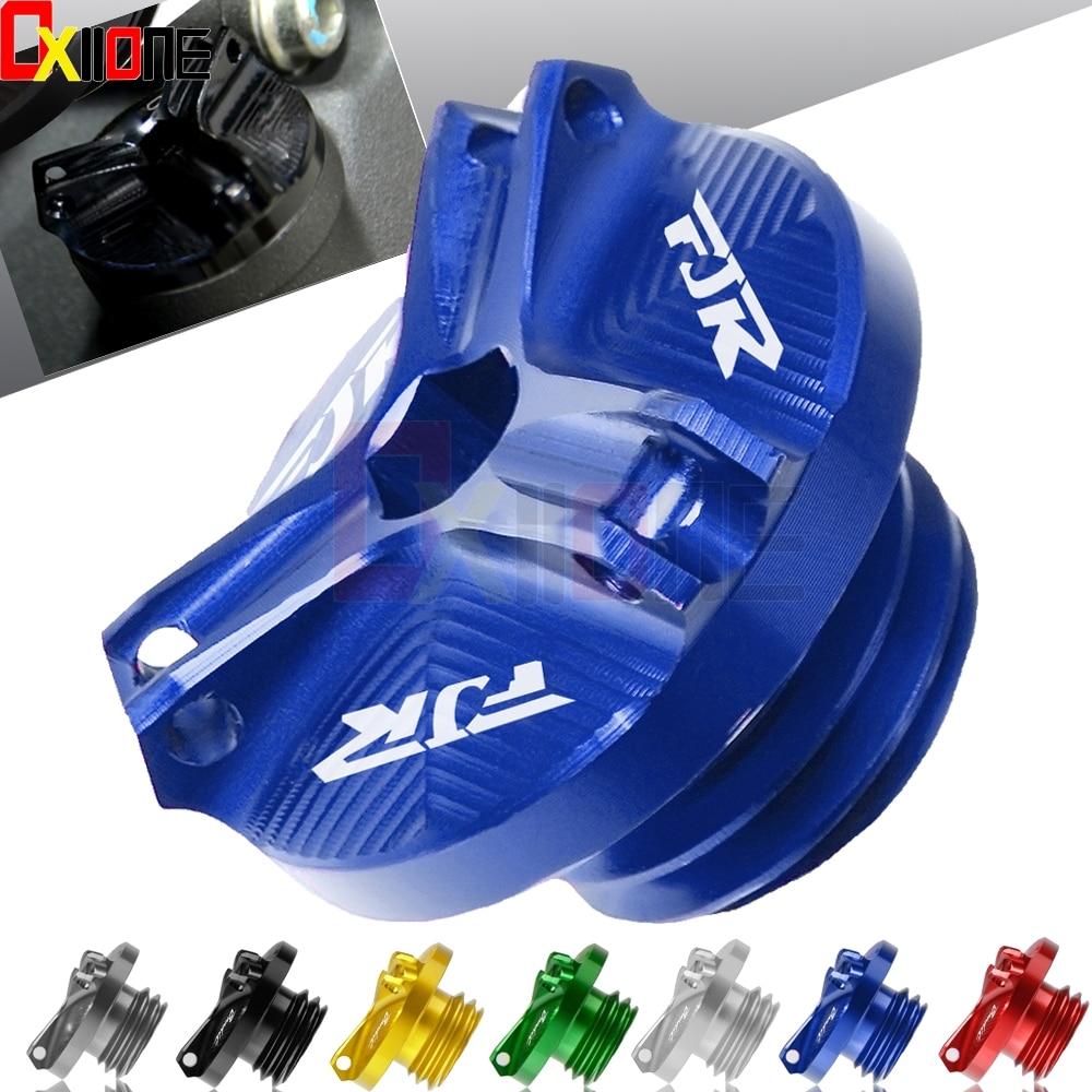 Motorcycle M20*2.5 Engine Oil Filter Cup Plug Cover Screw For Yamaha FJR1300 FJR 1300AS fjr1300 fjr 1300 motorcross accessories