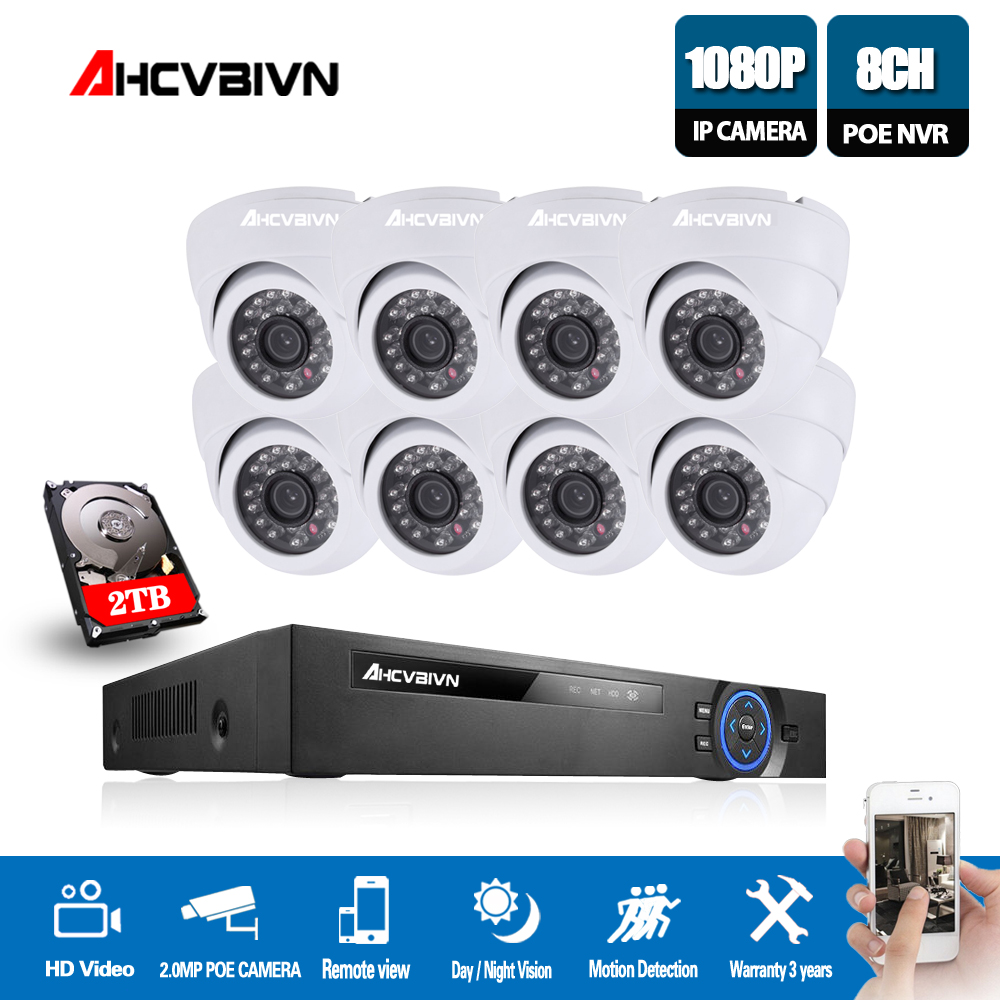 8CH 5MP Full HD NVR Kit POE CCTV System (8) 2.0MP Indoor IP Camera P2P Onvif Security Surveillance Set8CH 5MP Full HD NVR Kit POE CCTV System (8) 2.0MP Indoor IP Camera P2P Onvif Security Surveillance Set