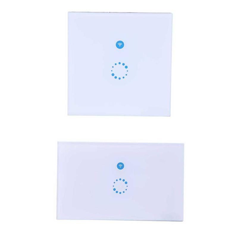 Touch Wall Wifi Switch Luxury Glass Panel Touch LED Wi-Fi Wireless Remote Control Light Switch Smart Home EU/US smart home touch control wall light switch crystal glass panel switches 220v led switch 1gang 1way eu lamp touch switch