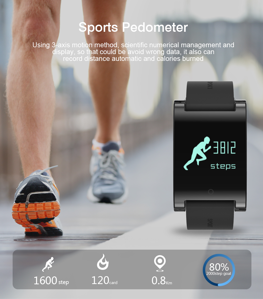 HUINIU DM68 Smart Bracelet Band Pedometer Distance Analysis Fitness Tracker Heart Rate Tracker Blood Pressure For iPhone Android 9