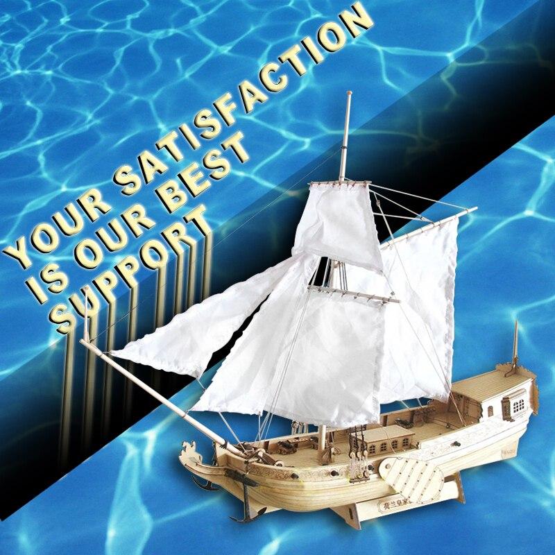 Бесплатная доставка, масштаб 1/80, деревянная модель парусника, Голландская королевская модель яхты, модель корабля, игрушка ручной работы, сделай сам, детский подарок, развивающая модель