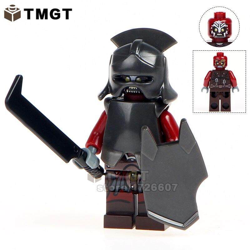 Single Sale Lord Of The Rings Uruk-hai Herr Der Ringe Helmet Building Blocks Kids Toys Children Gift Blocks