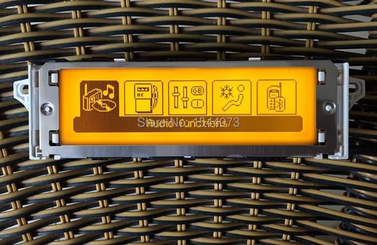 Jaune D'origine Écran Support USB Double-zone Air et Bluetooth Affichage Moniteur 12 Broches pour Peugeot 307 407 408 citroen C4 C5