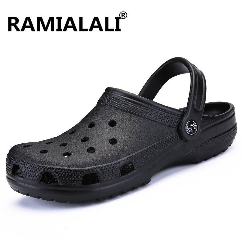 Kraftvoll Ramialali Männer Sandalen Sommer Strand Hausschuhe Atmungsaktiv Hohl Männer Schuhe Casual Slipper Berühmte Marke Designer Zapatos Hombre Schuhe