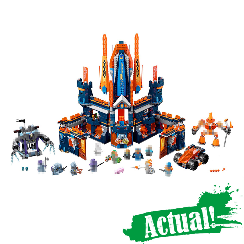 LEPIN 14037 1295PCS NEXUS Knights Knighton Castle Anime action Figures Building Blocks Bricks DIY Toys For gifts INGly 70357 dr tong single sale the lord of the rings medieval castle knights rome knights skeleton horses building bricks blocks toys gifts