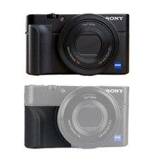 Supporto per impugnatura antiscivolo per Sony RX100 RX100II RX100III M4 M5 RX100M6 impugnatura gommata 3M borsa per adesivi accessori per fotocamere