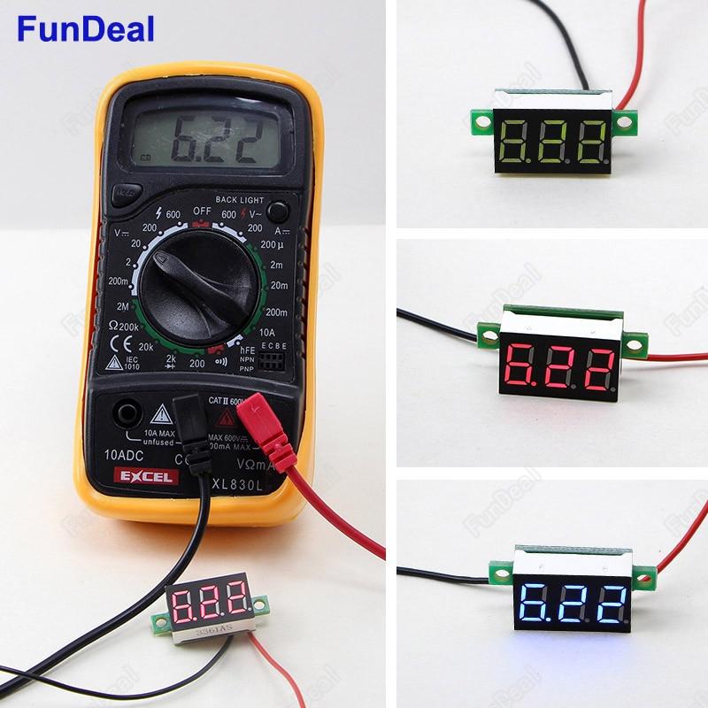 Electronics Tester Parts : Mini dc v led display digital voltmeter voltage