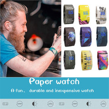 relogio masculino New Creative Paper Watch LED Waterproof Clock Tyvek Paper Strap Digital Watches erkek kol saati