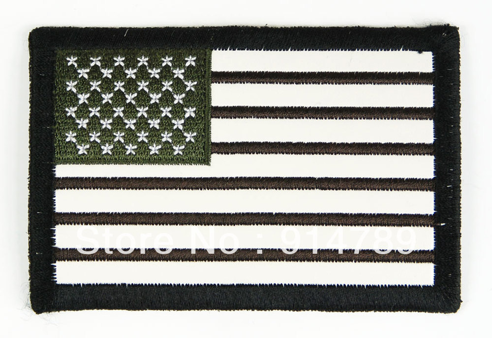 US FLAG UNIFORM MILSPEC ARMBAND LEATHER PATCH-32646