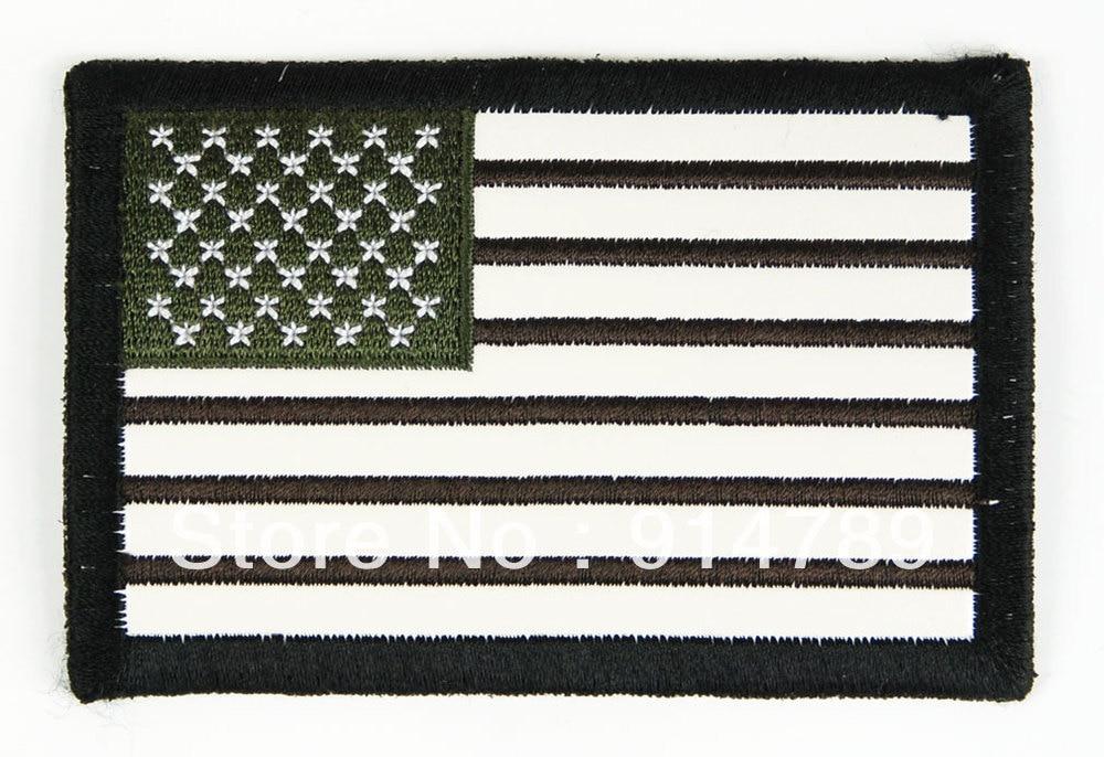 US FLAG UNIFORM MILSPEC ARMBAND LEATHER PATCH-32646