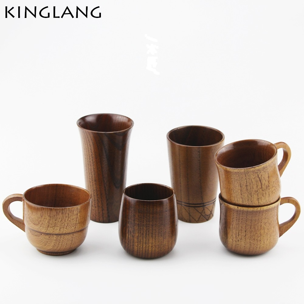 Japanese style wooden coffee cup milk cup wood Zaomu acid cup retro restaurant Creative Cup korean kids for gift