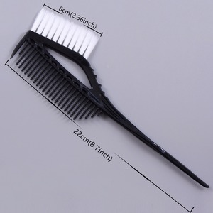 Image 3 - Pro Black Plastic Haarverf Kleuren Borstels Kam Barber Salon Tint Hairdressing Styling Tools Haar Kleur Diy Kammen Met Borstel