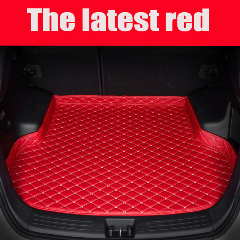 Tapis de coffre de voiture sur mesure pour Ford Mondeo Ecosport Explorer Focus Fiesta revêtements de tapis antidérapants en cuir