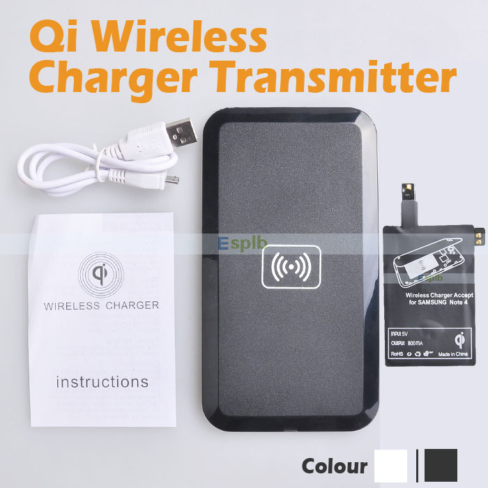 Qi Wireless Charger Adapter Adapter Bluetooth Mini Jack Oneplus 5 Usb C Adapter Kingston M 2 Pcie Adapter: Qi Wireless Charger Receiver Adapter Full Selt With Cable