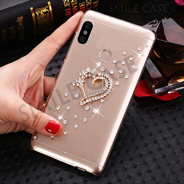 brand new cd2f0 c2bb8 US $3.75 25% OFF|Aliexpress.com : Buy Smile Case for Global version Xiaomi  Redmi Note 5 Cover 32GB 64GB Luxury Bling bling Rhinestone Redmi Note 5 Pro  ...