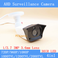 AHD High Definition Surveillance Camera 720P 960P 1080P AHD Camera CCTV 3MP 3 6mm Lens Outdoor