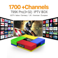 Octa Core Android Arab IPTV BOX T95KPRO Free 1700 Europe Arabic IPTV Channels S912 3GB/32GB TV Box KODI WIFI H265 Media Player