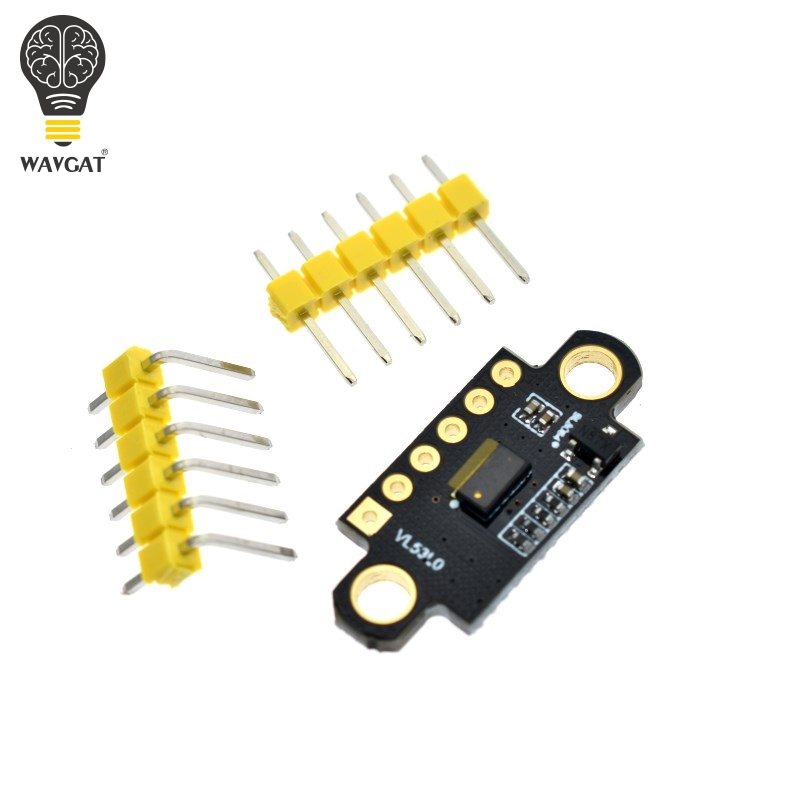 WAVGAT VL53L0X Time-of-Flight (ToF) Laser Ranging Sensor Breakout 940nm GY-VL53L0XV2 Laser Distance Module I2C IIC 3.3V/5V