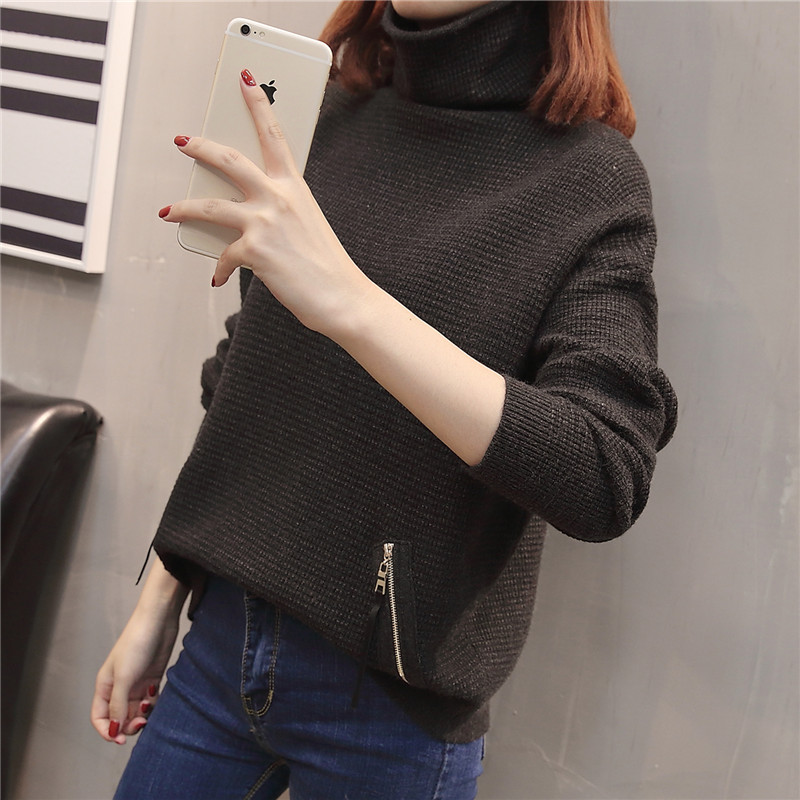 Chart Winter Bottoming Neck See Head High Wild New Women's And Chart Shirt Knit Autumn see Sweater Loose SqTU0nTa