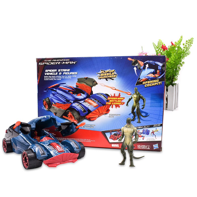 20 cm The Amazing Spider-man Spider Strike Vehicle Action Figure Spiderman PVC Collectible Model Toy Christmas Gift For Children amazing spider man the clone conspiracy