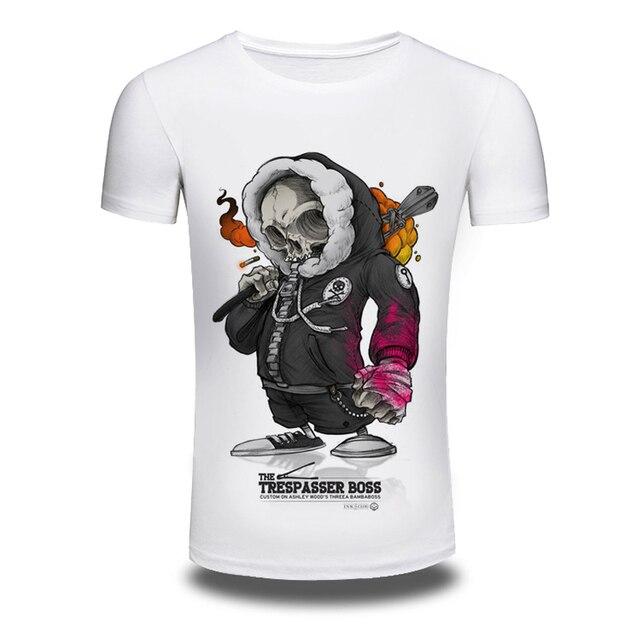 93177b76 Supreme New 2016 Brand White T shirt for Men THE TRESPASSER BOSS Print  Tshirts Summer short sleeve Tee