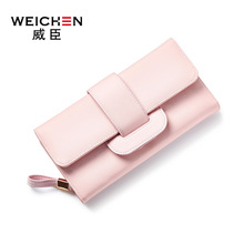 Genuine Leather Brand Designer Female Long Clutch Wallet Women Long Purse Hasp Design Strap Zipper Lady Cow Leather Card Holder
