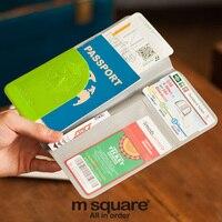 M Square Document Clip Set Of Multi Card Travel Ticket Clip Long Short Fashion Waterproof Passport
