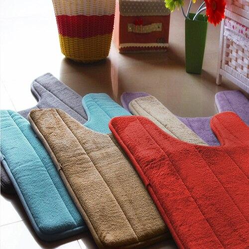 40x60 cm A Forma di U Ctton Bath Mat Anti Slip per la Casa Bagno Cucina Soggiorn