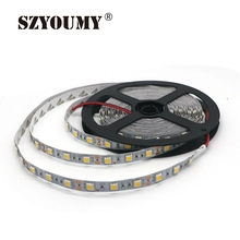 SZYOUMY NEW 5M/Roll Non-Waterproof RGB Led Strip 5050 SMD Led Tape DC 12V 60Leds/M Fita Flexible Ribbon String IP20 300Leds