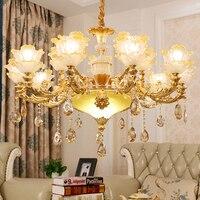 Kristall Kronleuchter Beleuchtung für Wohnzimmer Innenbeleuchtung Romantische Schlafzimmer Lampe Zeitgenössische Kristall Kronleuchter Glas Lampe