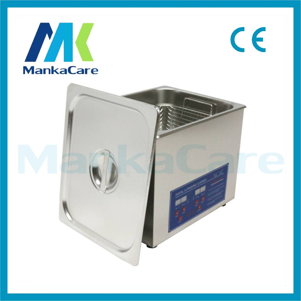 Globe AC110/220 digital heated Ultrasonic cleaner 10L PS-40A digital timer & heater control hardware parts with free basket derui auto parts ultrasonic cleaner with timer and heated dr mh30 3l