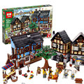 2017 Lepin 16011 1601 Unids Serie Castillo Medieval Manor Castillo Set Educativos Building Blocks Ladrillos Modelo Juguetes de Regalo 10193