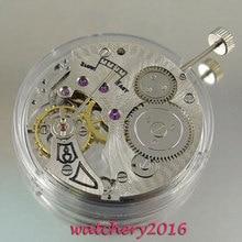 Relógio masculino vintage de 17 joias, relógio mecânico de aço inoxidável de enrolamento manual 6498