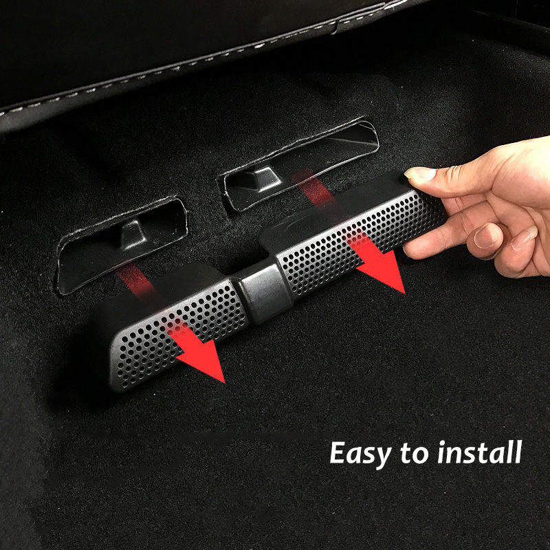2PCS / Set Black Dustproof Ventilation Car Vent Cover Car Mesh Air Conditioner Under Air Seat For Skoda Kodiaq 2016 2017 2018