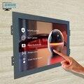 Pos промышленного управления мониторинга машины with9.7 металлический каркас сенсорный четыре линии VGA жк-плата monitor1024 * 768 разрешение