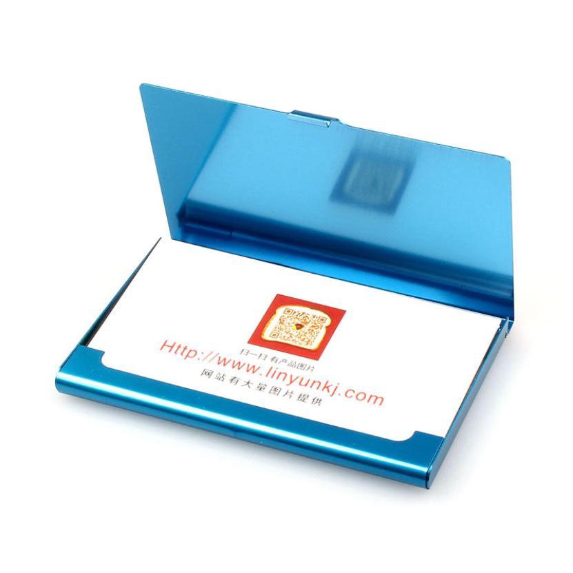 Новые творческие Бизнес визитница Нержавеющаясталь Алюминий держатель крышка металлическая коробка кредитной Бизнес Твердые минималист...