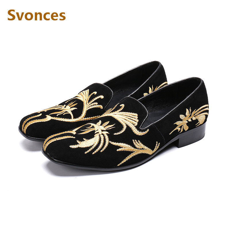 Beertola Real Leather Mens Casual Shoes Embroiderd Gorgeous Fireworks Crystal Metal Decoration Slip On Loafers Handmade Shoes High Quality Goods Men's Shoes
