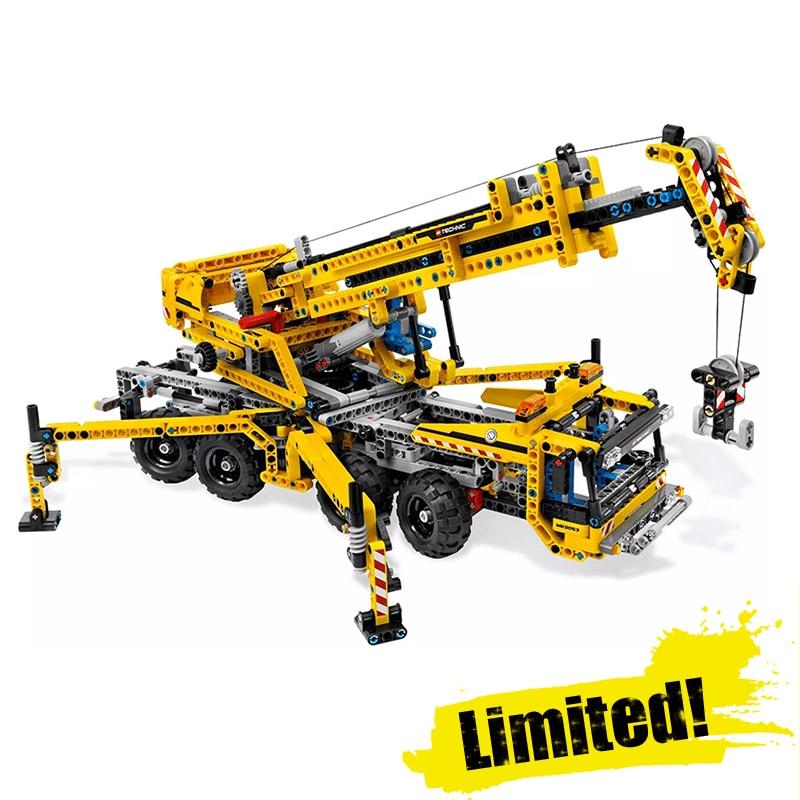 LEPIN 20040 Mobile Crane Technic Model Building Blocks Bricks Toys DIY For Kids Model 1392PCS Compatible with legoINGly 8053