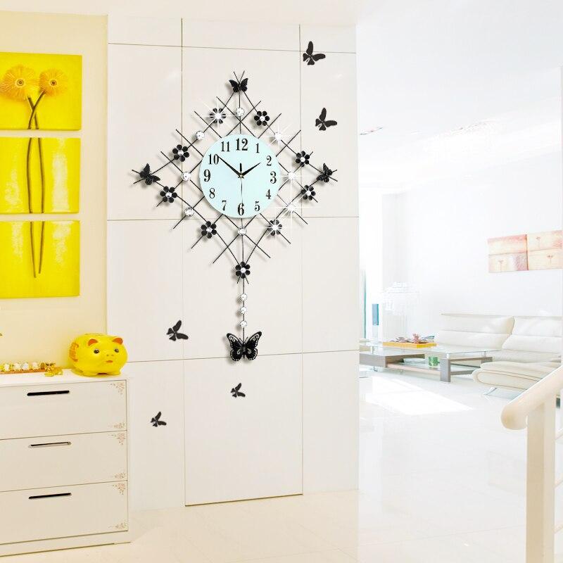 Crafts Arts Home Decoration Modern Minimalist Innotime Decorated Living  Room Wall Clock Watch Garden Swing Clock European Mute Q In Underwear From  Mother ...