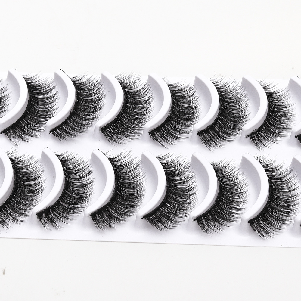 US $2.72 20% OFF|2018 NEW 10 pairs 100% Real Mink Eyelashes 3D Natural False Eyelashes 3d Mink Lashes Soft Eyelash Extension Makeup Kit Cilios-in False Eyelashes from Beauty & Health on Aliexpress.com | Alibaba Group