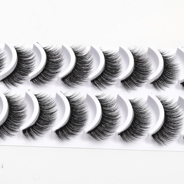 b04f0c4c3f1 2018 NEW 10 pairs 100% Real Mink Eyelashes 3D Natural False Eyelashes 3d  Mink Lashes