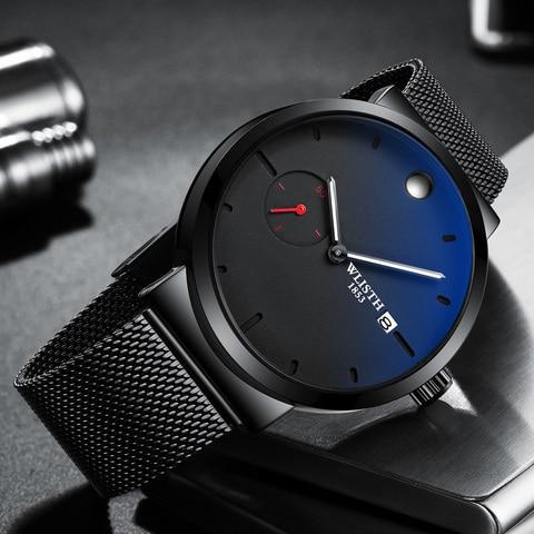 WLISTH 2019 New Watch Casual Fashion Men High Quality Simple Generous Simplicity Quartz Watch Rolex_watch Pakistan