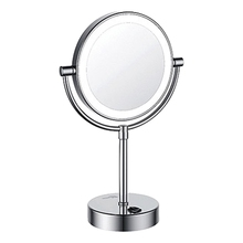 Зеркало с LED-подсветкой WasserKRAFT K-1005 (3-х кратное увеличение, латунь, хромоникелевое покрытие)