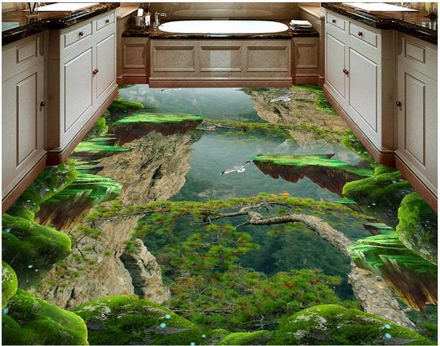 3d Fußboden Wald ~ Benutzerdefinierte boden vinylfliesen wand papers home decor wald