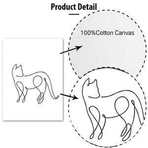 Image 5 - Минималистичные печатные плакаты с животными, забавная Картина на холсте с котом на стене для детей, питомник, спальня, домашний декор, Современные художественные картины