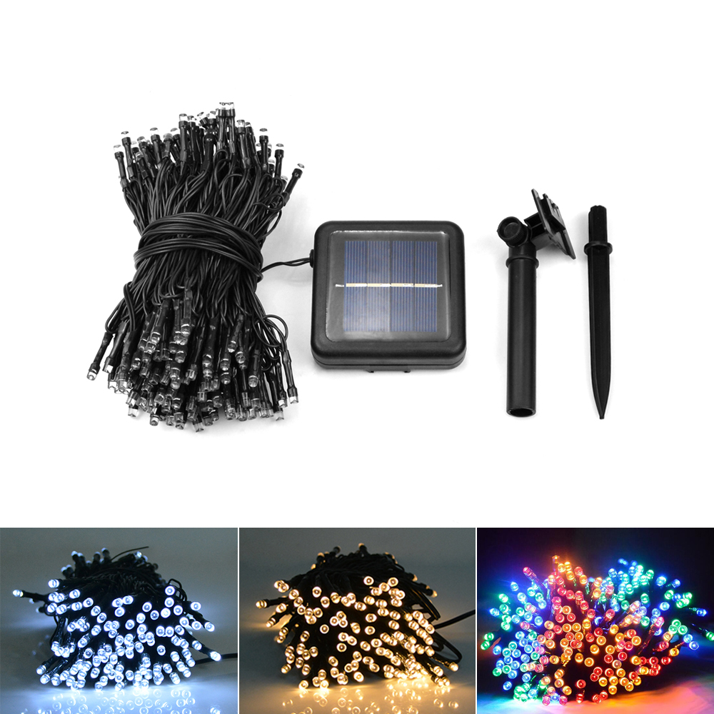 Outdoor String Lights Aliexpress : Solar LED String Lights Ambiance lighting Outdoor Patio Lawn Landscape Garden Home Wedding ...