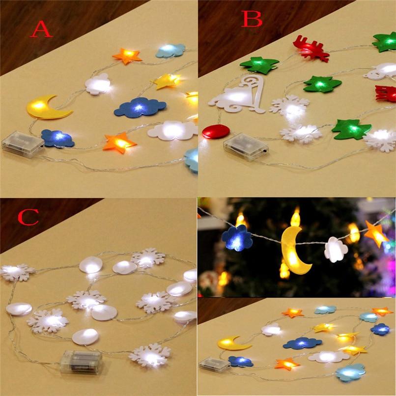 Home Decor Wholesale Suppliers: New 2.7m LED Pentagram Shape String Lights Home Party