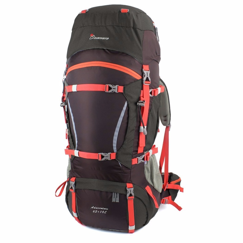 65+10L Internal Frame Long Haul Climbing Bag Terylene Material Unisex Travel Camping Outdoor Sport Backpack with Rain Cover high quality 55l 10l internal frame climbing bag waterproof backpack suit for outdoor sports travel camping hinking bags